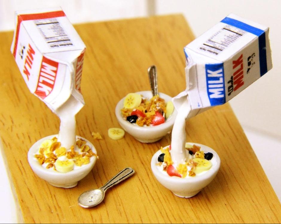 leche y cereal